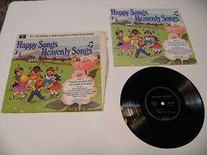 happy songs heavenly songs rare read along & coloring book VERY rare ...