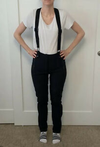 Forever-21-Overall-Black-Ski-Pants-Size-Small
