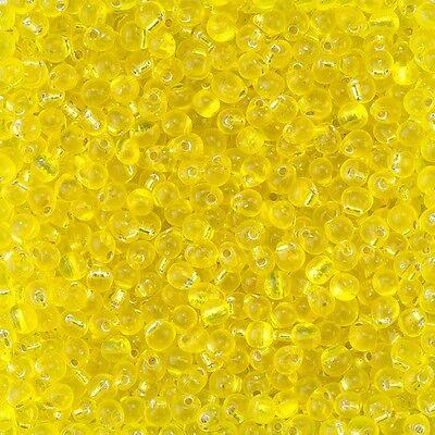 Miyuki Drops Glass Seed Beads Transparent Aqua 3.4mm 25 gram Tube D93//4