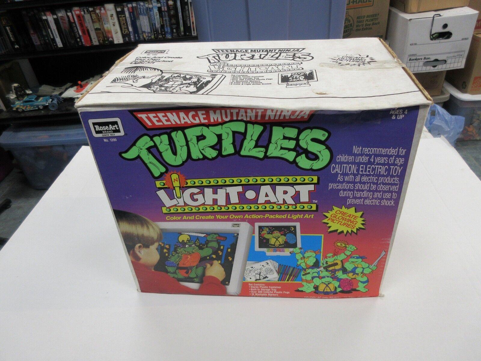 1991 pinkART TMNT NINJA TURTLES LIGHT ART SET SEALED