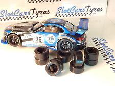 8 pneus  urethane BMW Z4 GT3  Carrera 1/32