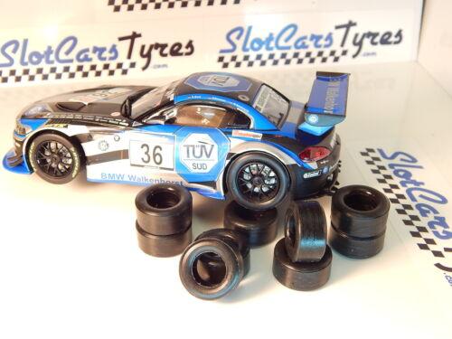 8 pneus  urethane BMW Z4 GT3  Carrera 1//32