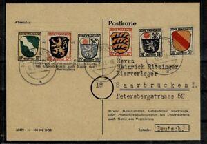 Alibes Franz. Zone MiNr 5 - 10 sur carte postale de collection-teafficher le titre d`origine TyGwlWvA-07165158-758050787
