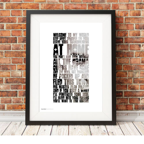 Depeche Mode Welcome To My World Song Lyric Poster Art Ltd Edition Print 26 Music Memorabilia Rock Pop