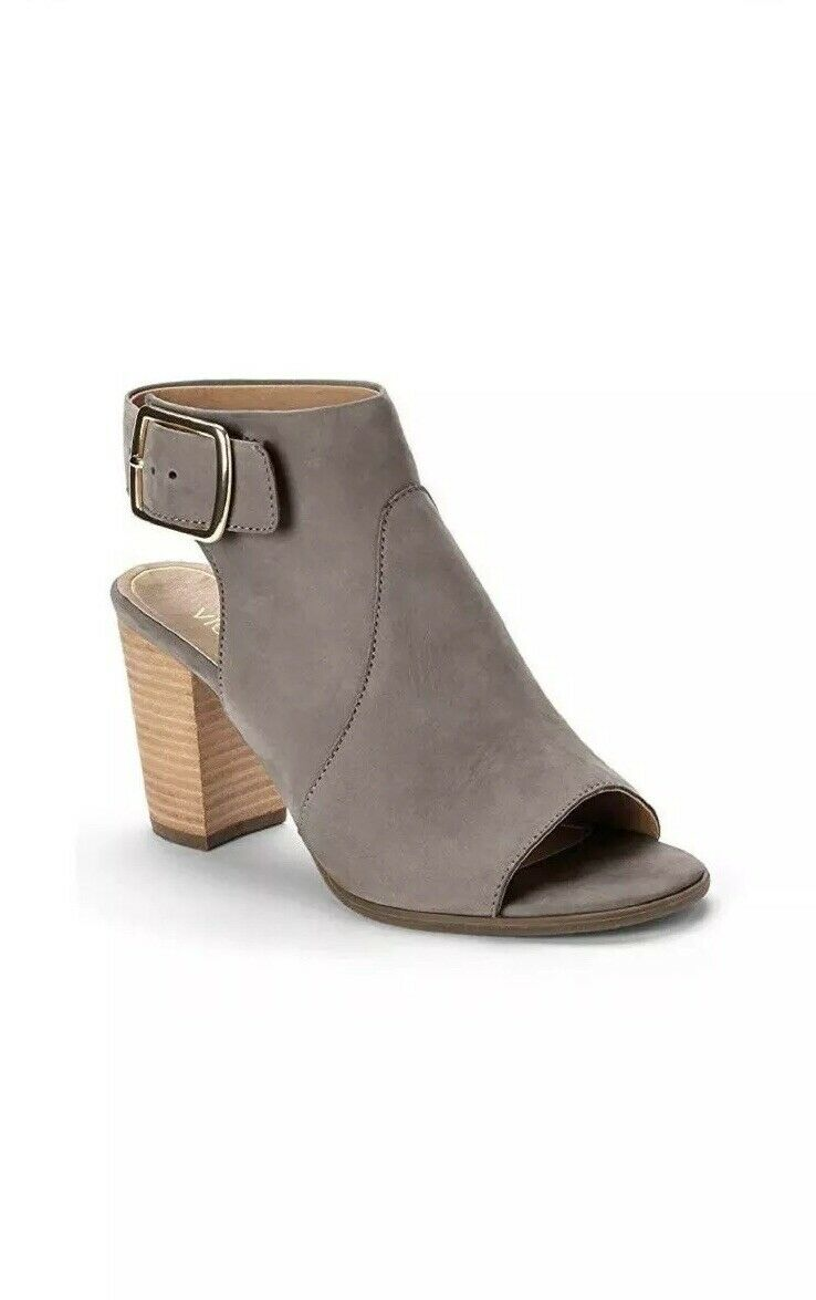 Vionic Orthaheel Perk Blakely Zapatos Sandalias De Cuero gris W