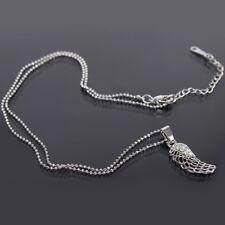Halskette mit Flügel Edelstahl Anhänger Engelsflügel Kette Strass