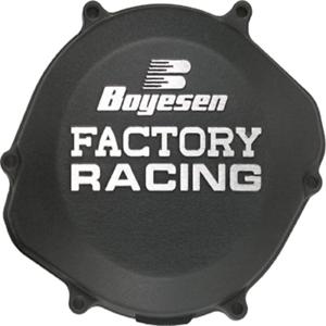 Factory Clutch Cover Black For 2003 KTM 125 SX~Boyesen CC-41B