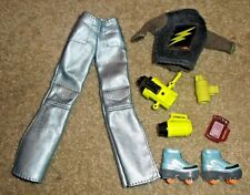 BARBIE DOLL CLOTHES - MYSTERY SQUAD PANTS & TOP w/ SKATE SHOES & ACCESSORIES