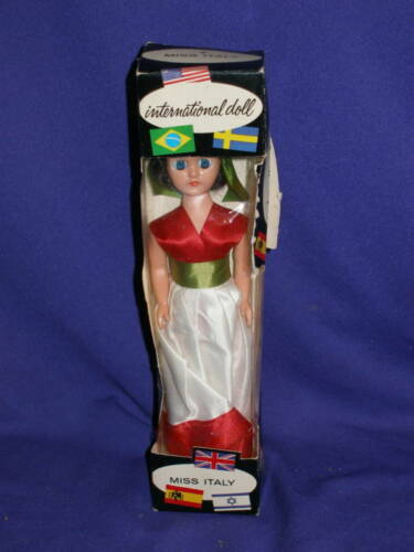 "Vintage Miss Italy Girl Storybook Doll 7"" MIB"