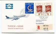 FFC 1966 KLM First Direct Flight Zurich Kano Nigeria REGISTERED Liechtenstein