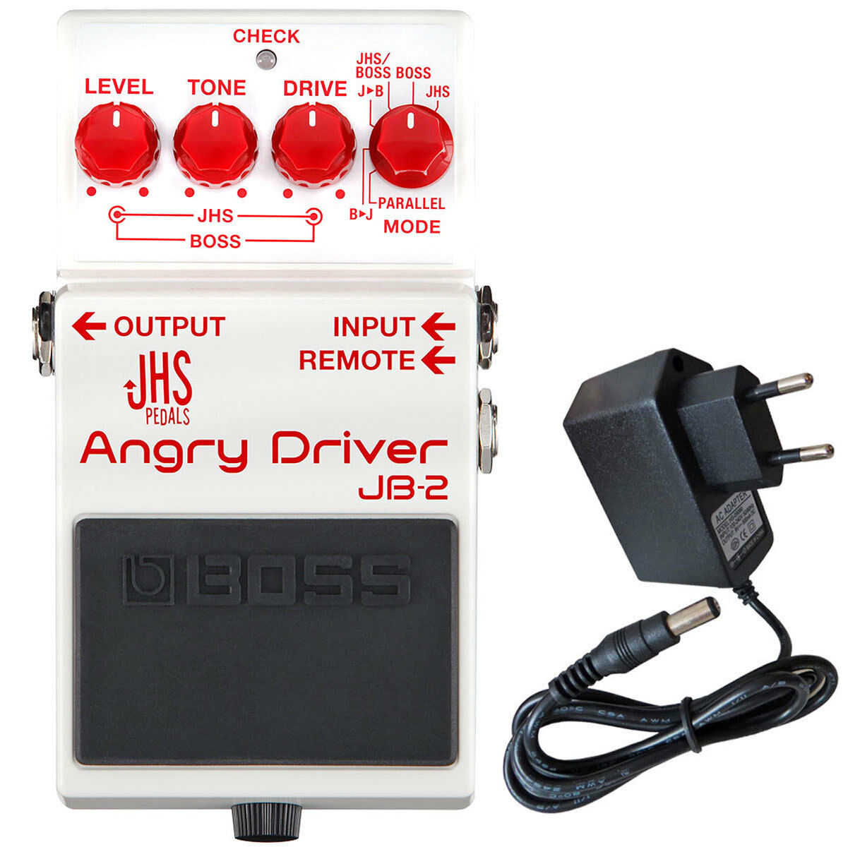 Boss JB-2 Angry Driver Overdrive Pedal + Keepdrum Netzteil