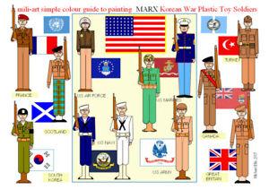 Marx-International-Army-60mm-Unpainted-Plastic-figures-amp-paint-guide