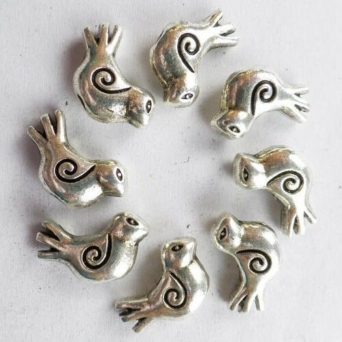 30//100 pcs Very cute Tibet silver bird house charm pendant 30x19 mm