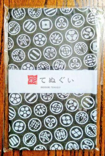KOMESICHI Tenugui Japanese Cotton Towel Family Crest Sazanami Made in Japan!