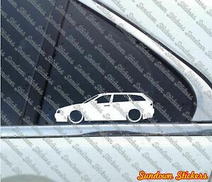 2X-Lowered-car-Outline-stickers-For-Alfa-Romeo-156-sportwagon