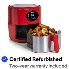 Deco Chef 3.7QT Digital Air Fryer, 6 Cooking Modes, Dishwasher Safe Basket, Red