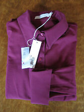 Lux ANNE FONTAINE Anemone PIMA Cotton Magenta NUAGE Blouse 40 4 6 $225 EUC Tags