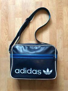 Details zu Adidas Originals Airliner Umhängetasche Blau Weiß Bag Tasche Vintage