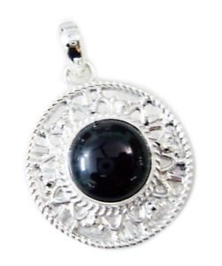 ideale-schwarze-Onyx-925-Sterling-Silber-schwarz-Anhaenger-echte-Jaipur-de