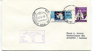 1973 Marion Island Mv Rsa Cape Town Kaapstad Polar Antarctic Cover