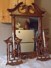 Vintage Turner Wall Accessory Eagle Mirror and Matching Wall Sconces