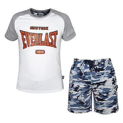 Completo Uomo EVERLAST Cotone T-Shirt e Pantaloncino Art.31110
