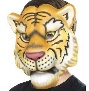 Childs Eva tiger mask Fancy Dress Animal Mousse Masque /& Élastique Sangle Smiffys
