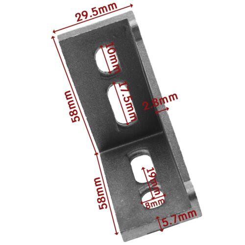 10x T-Nut Ecke T-Nut Rechtwinklige 3060 Unterlegscheibensatz 8 mm Breite