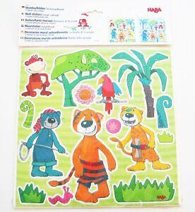 Wand-Aufkleber-Dschungelbande-Haba-NEU-OVP-2679-2-Motive-3x-6Boegen-kinder-baby