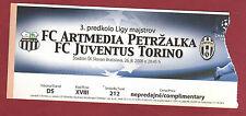 Orig.Ticket   Champions League  08/09   ARTMEDIA PETRZALKA - JUVENTUS TURIN  !!