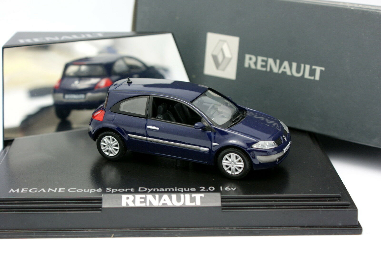 Norev 1 43 - Renault Megane Coupe Coupe Coupe Sport bluee 2003 17107e