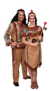 Kostum Indianer Damen Squaw Apache Kleid Cosplay Fasching Karneval