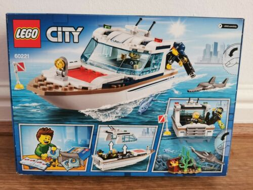 New Lego City 60221 Diving Yacht Official Kids 5 Years