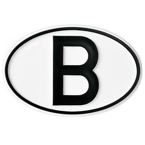 Belgien-Hoch-Relief-B-Schild-Emblem-Belgien-B-Schild-HR-Art-16004-selbstklebend