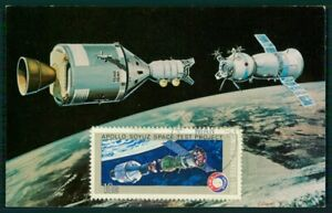 à Condition De États-unis Mk 1976 Espace Space Apollo Soyouz Maximum Carte Maximum Card Mc Cm Ei88-afficher Le Titre D'origine