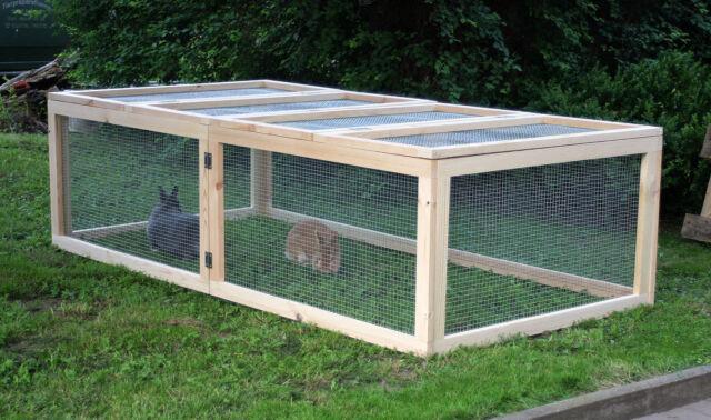 200x100x55 Freigehege Gehege Kaninchenstall Hasenkäfig Kleintierstall Kaninchen