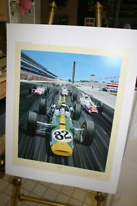 LIMITED-EDITION-PRINT-JIM-CLARK-1965-INDY-500-25-X-32-FULL-COLOR-ROGER-WARRICK