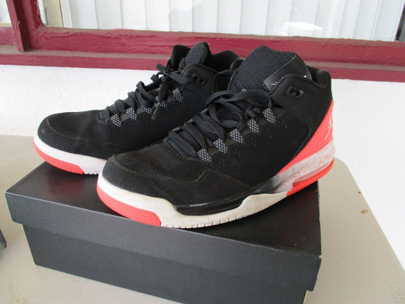 Men's Jordan Flight Origin 2 Off Court Shoes, 705155 016 Size 10 Black/Orange