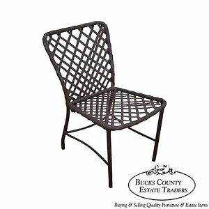 Brown Jordan Tamiami Vintage Aluminum & Vinyl Strap Patio Side Chair