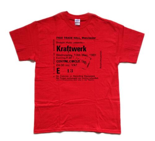 KRAFTWERK 1981 Manchester FREE TRADE HALL screenprinted T SHIRT