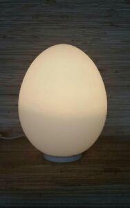 Vintage 1960s laurel glass egg table lamp smaller size 11 frosted image is loading vintage 1960 039 s laurel glass egg table aloadofball Image collections