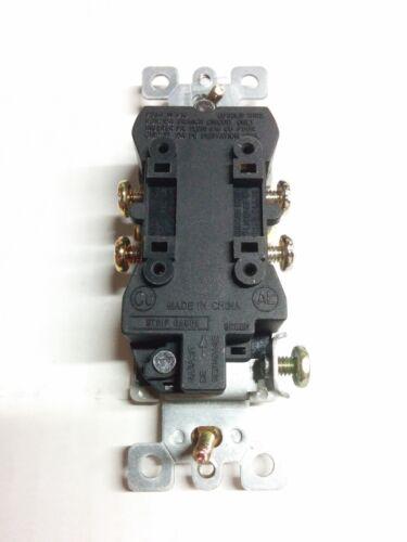 15A Decorator Duplex Receptacles 15 Amp Tamper Resistant BLACK TR 10 pc