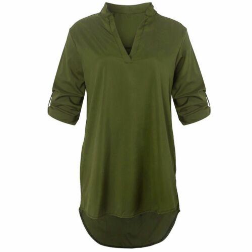 Womens Summer Loose Chiffon Blouse Vest Shirt fullsleeveTops Ladies Cami Casual