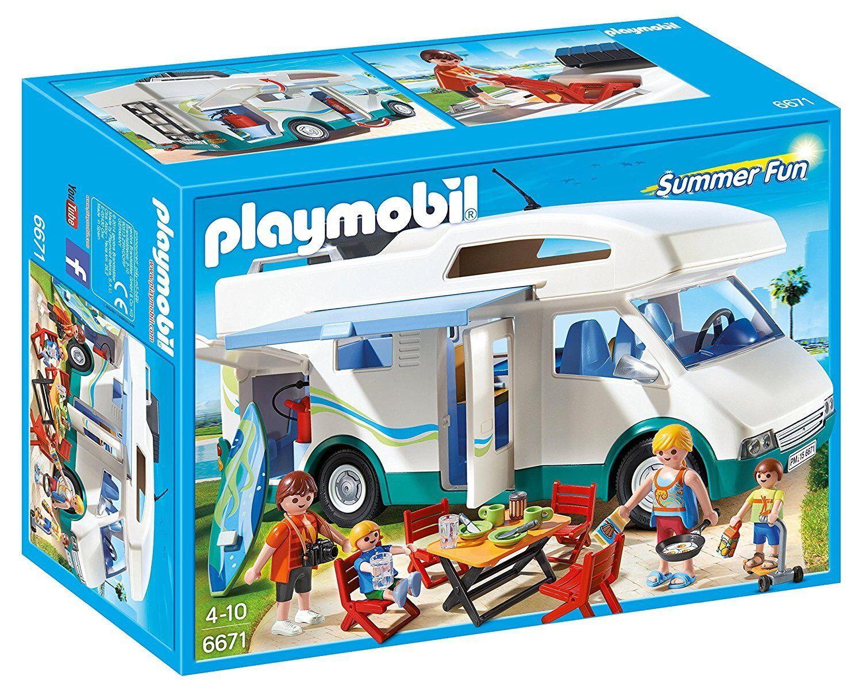 Nouveau PLAYMOBIL lot no 6671 Summer Fun famille Summer Camper + eau
