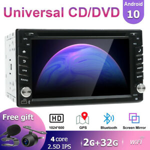 Android-10-0-Double-Din-Car-Stereo-Sat-Nav-FM-AM-DVD-CD-Player-Wifi-4G-SWC-USB