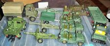 job lot of Britains military conversions including Crescent Guns, Dinky etc.