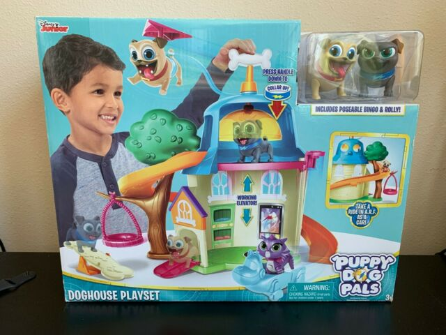 Disney Junior Puppy Dog Pals Doghouse Playset Brand New