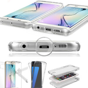 Shockproof-360-Protective-Full-Case-Cover-Silicone-Clear-For-Huawei-P20-8-9-10