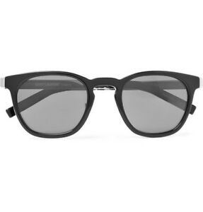 29482574a8 SAINT LAURENT D-FRAME SL28 COMBI 001 49-23-140 ACETATE SUNGLASSES ...
