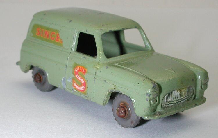 Matchbox Lesney No. 59 Ford Thames Van Singer Grey Wheel oc11169